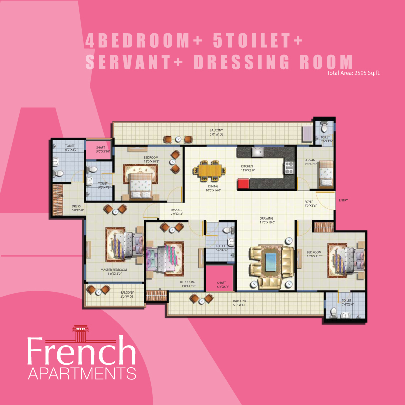 Anthem French Noida Extensionfloor plan