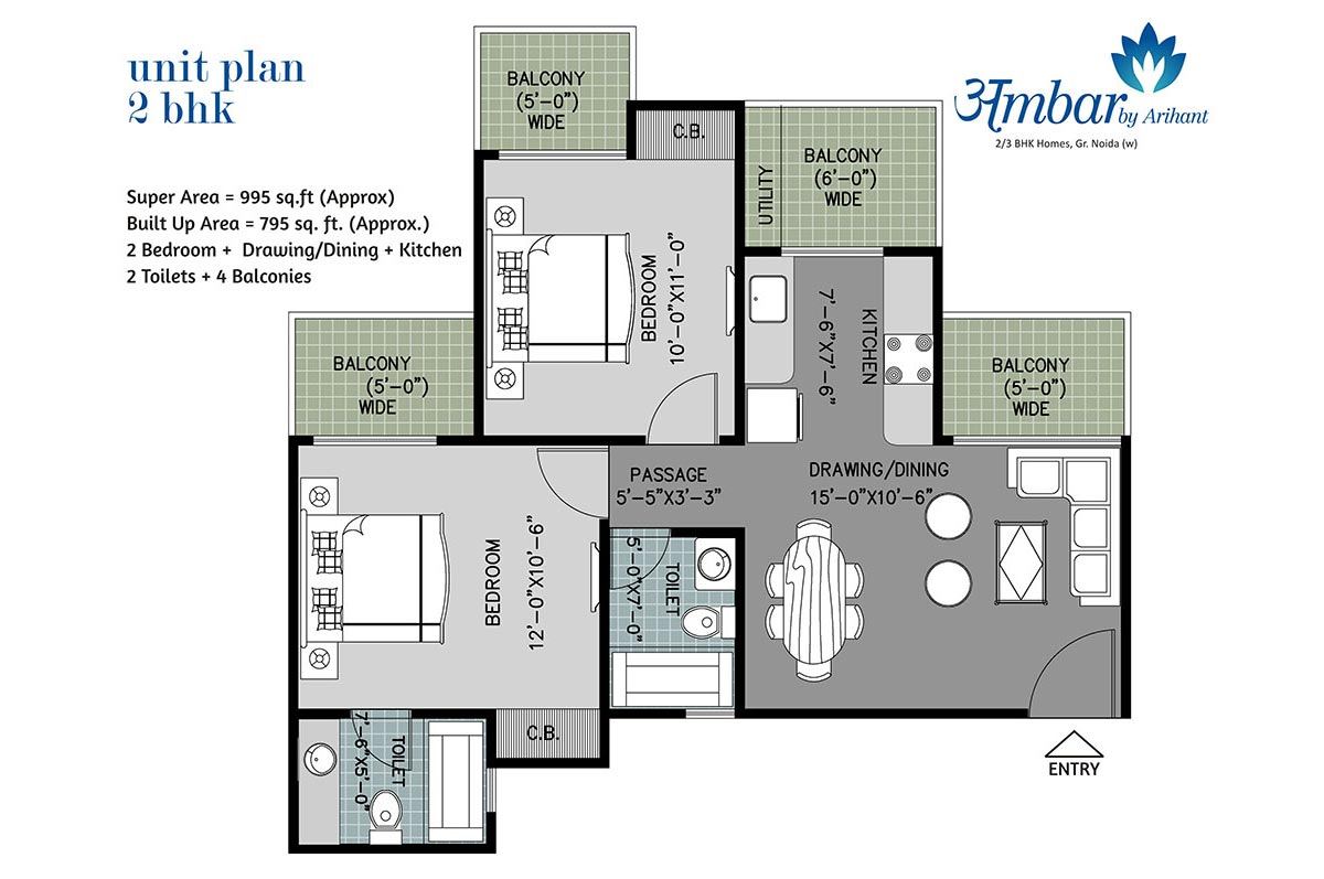 Arihant Ambar Noida Extension floor plan