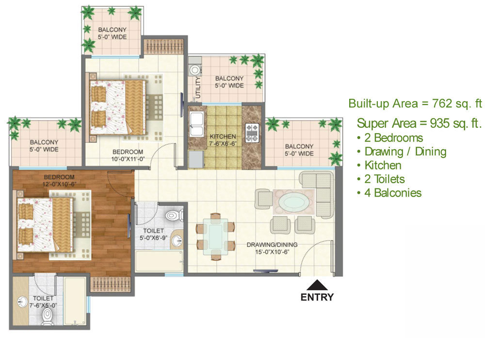 Arihant Ambar Noida Extension floor plan