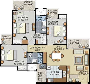 Civitech Sampriti Noida Sector-77floor plan