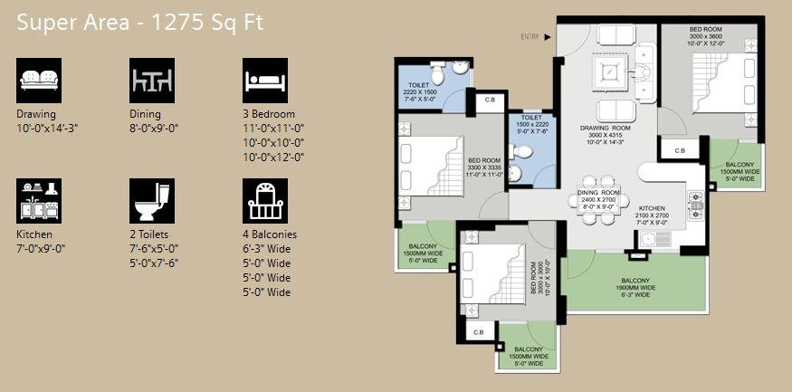Supertech Eco Village III plan