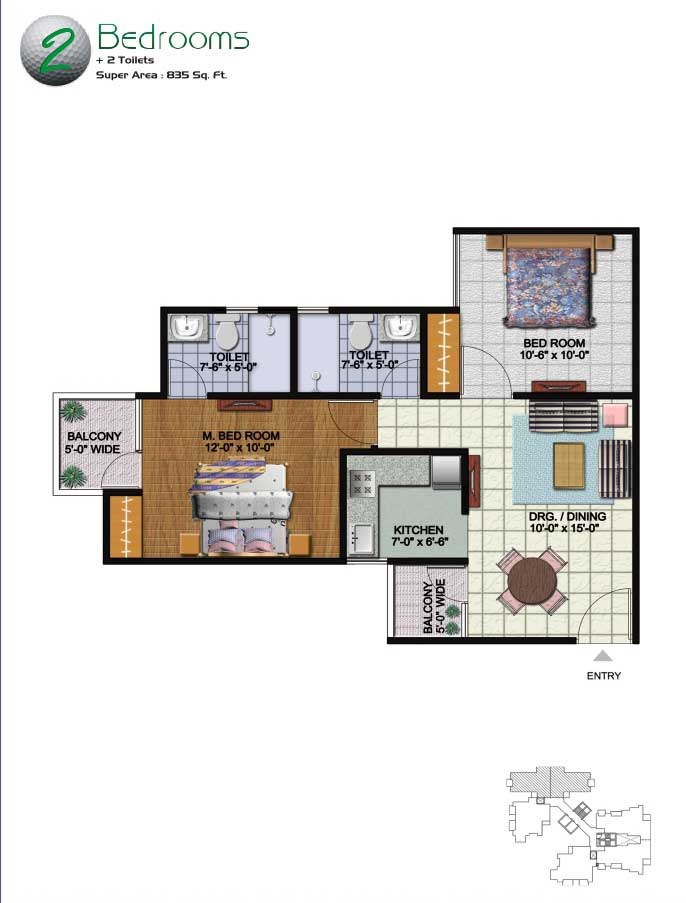 Amrapali Kingswood Greater Noida floor plan