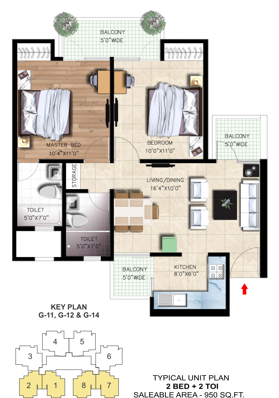 Nirala Greenshire Noida Extension floor plan