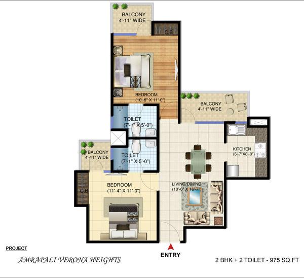 Amrapali Verona Heights Greater Noida floor plan