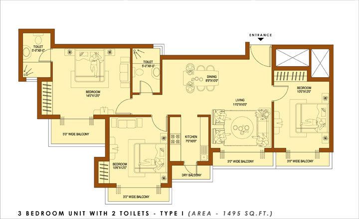 Express Zenith Noida Sector-77floor plan